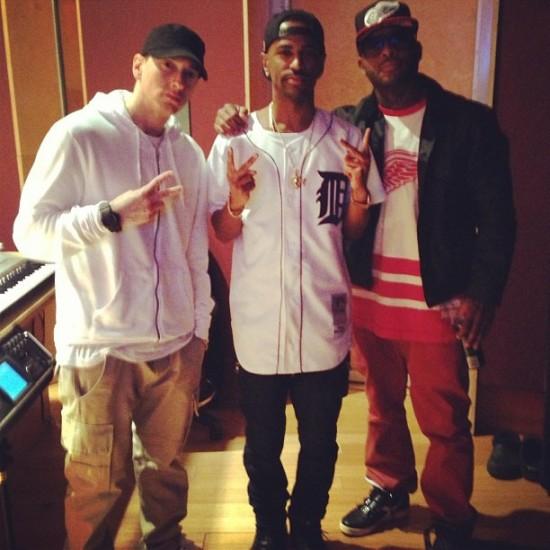 Eminem, Big Sean, Royce Da 5'9″ & Mr. Porter In The Lab