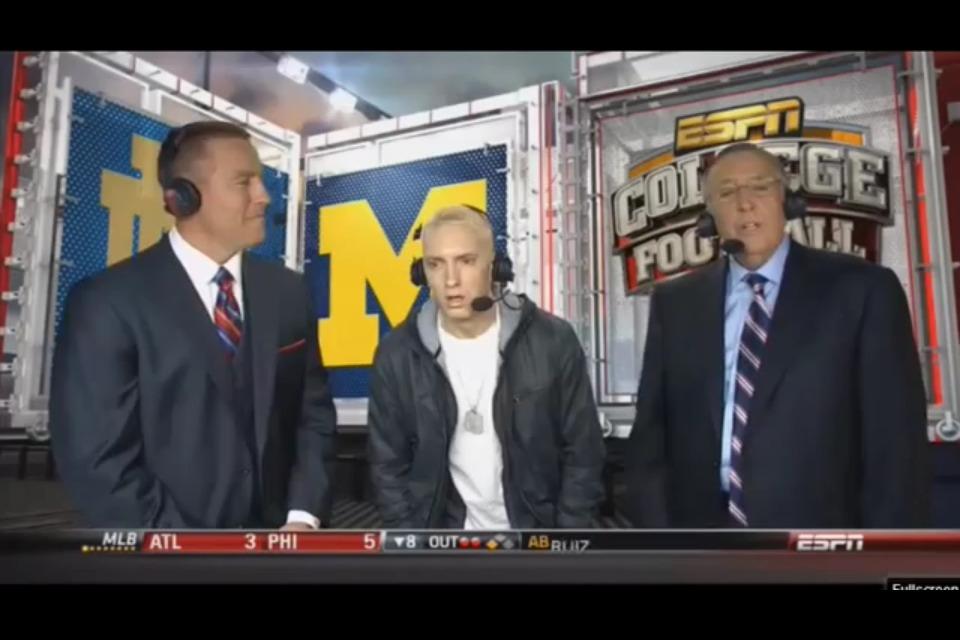 2013.09.08 - Eminem - Berzerk Music Video (Teaser) Prewiew on ESPN 1