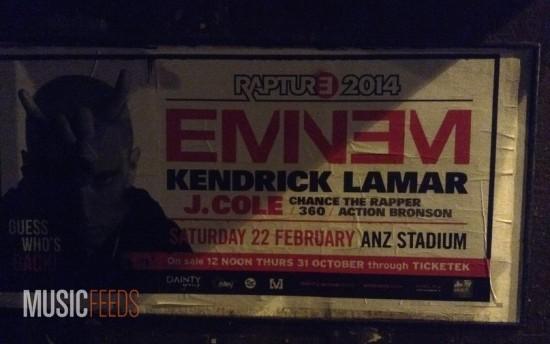 Eminem Raptoure 2014 Tour