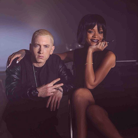 Eminem and Rihanna Shoot 'The Monster' Video