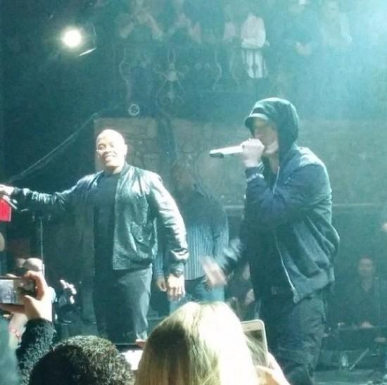 Dr. Dre и Eminem выступили на шоу Beats Music в Лос-Анджелесе 8