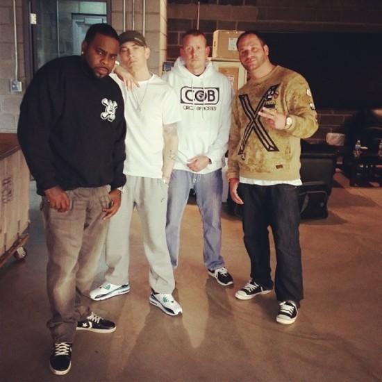 2014.05.15 - Eminem woth Crooked I at Studio (Detroit) 2