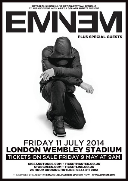 Eminem To Perform In London's Wembley Stadium