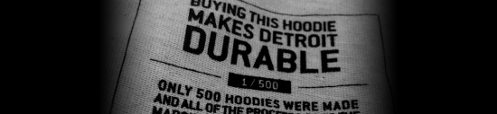 Eminem is proud to announce a partnership between Detroit's own Carhartt and the Marshall Mathers Foundation for a limited edition zip-front hoodie, to benefit the next generation of Detroit's youth.   Look for it tomorrow at 2pm ET.  Only 500 will be available.   All of the proceeds will go to the foundation.