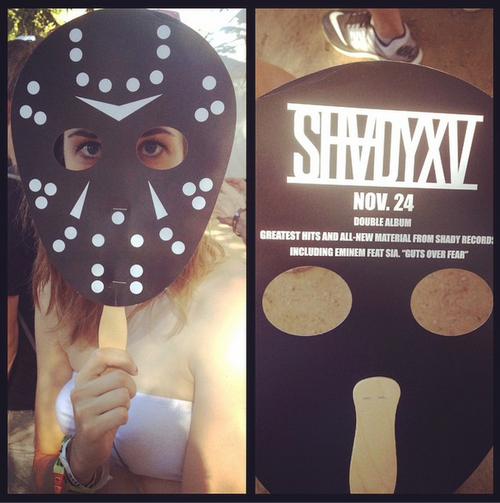03 Eminem at Austin City Limits Music Festival 2014.10.04 Promotional masks ShadyXV