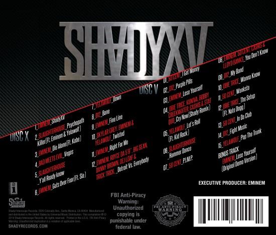 SHADYXV TRACKLIST REVEALED