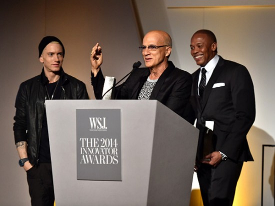 minem Honors Dr. Dre at Wall Street Journal Innovator Awards