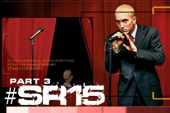 We are happy to present you the third part of #SR15 project - accurate and fully working copy of Eminem.Com website of 2002.