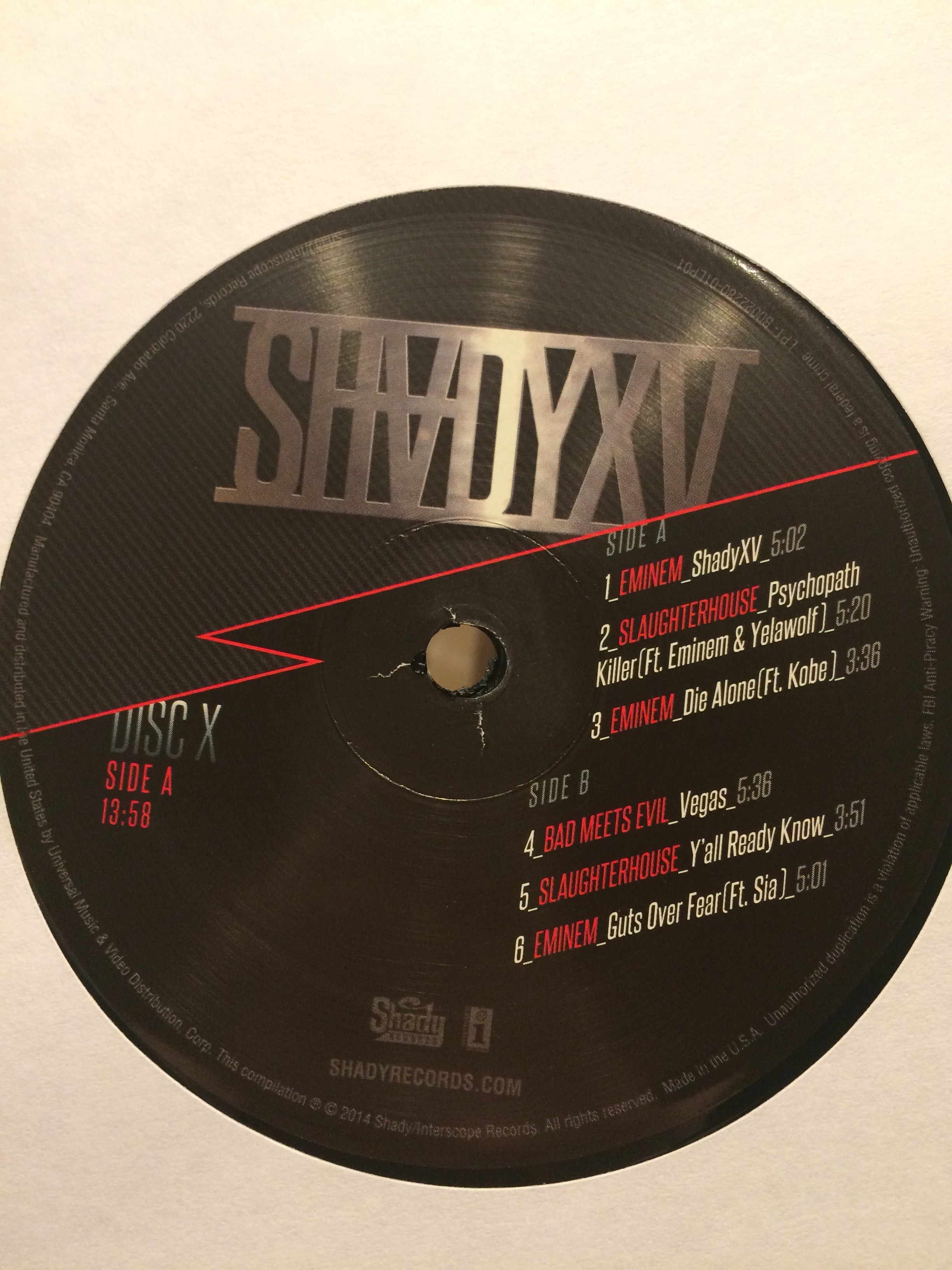 SHADYXV Vinyl by Eminem.PRO Eminem Shady Records. Photo by Igor Basenko