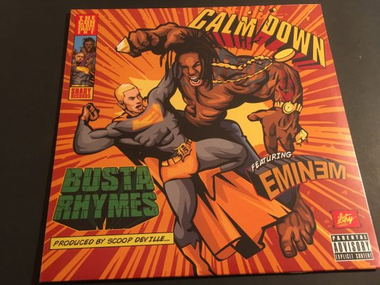 "Almost three years later the single ""Calm Down"" performed by Busta Rhymes and Eminem came out on vinyl!"