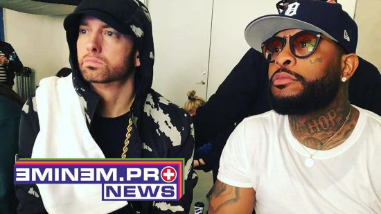 New collabo brought Eminem and Royce back to the studio. Are they shooting a Caterpillar video?
