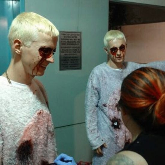 "Behind the scenes of unreleased Pink's video on her collab with Eminem ""Revenge"""