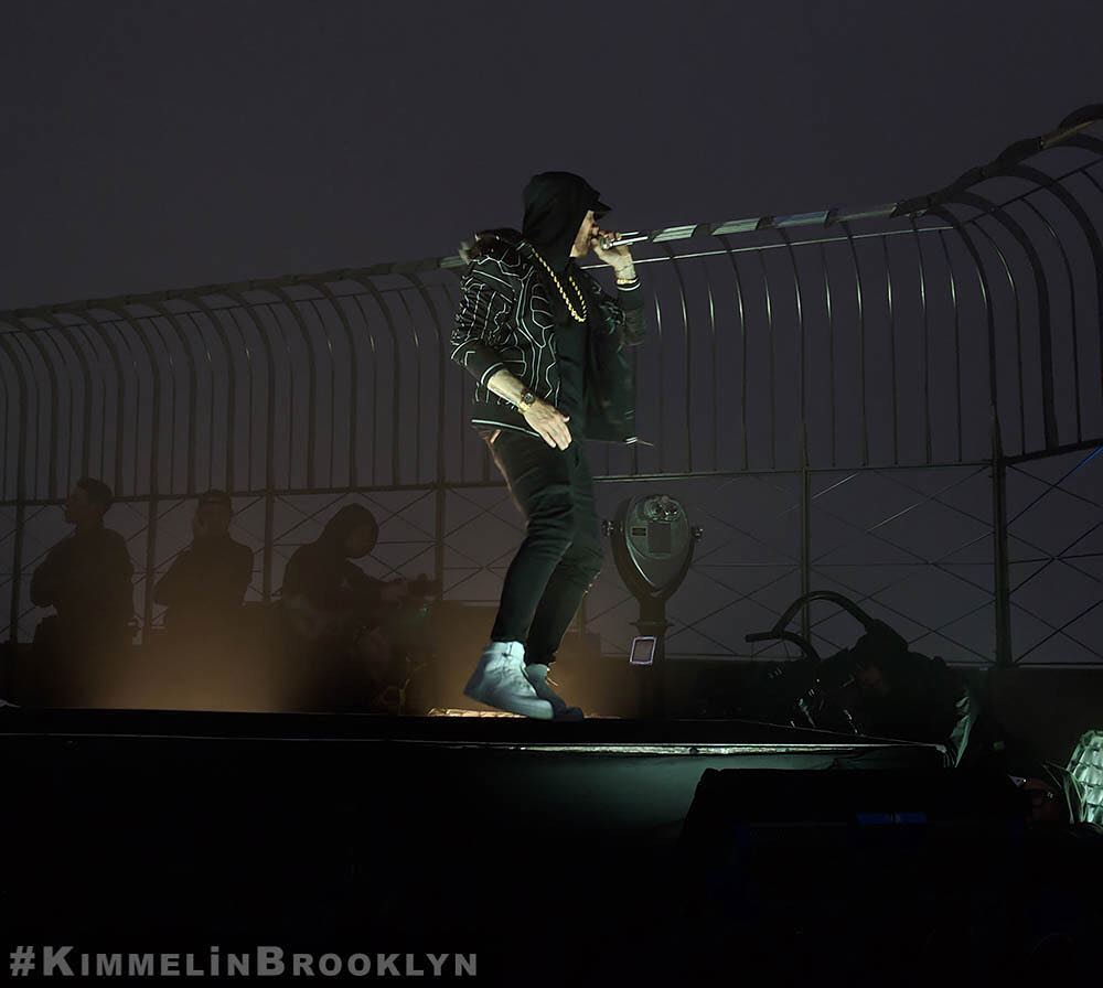 """Eminem Performs """"Venom"""" from the Empire State Building! (Jimmy Kimmel Live!)"""