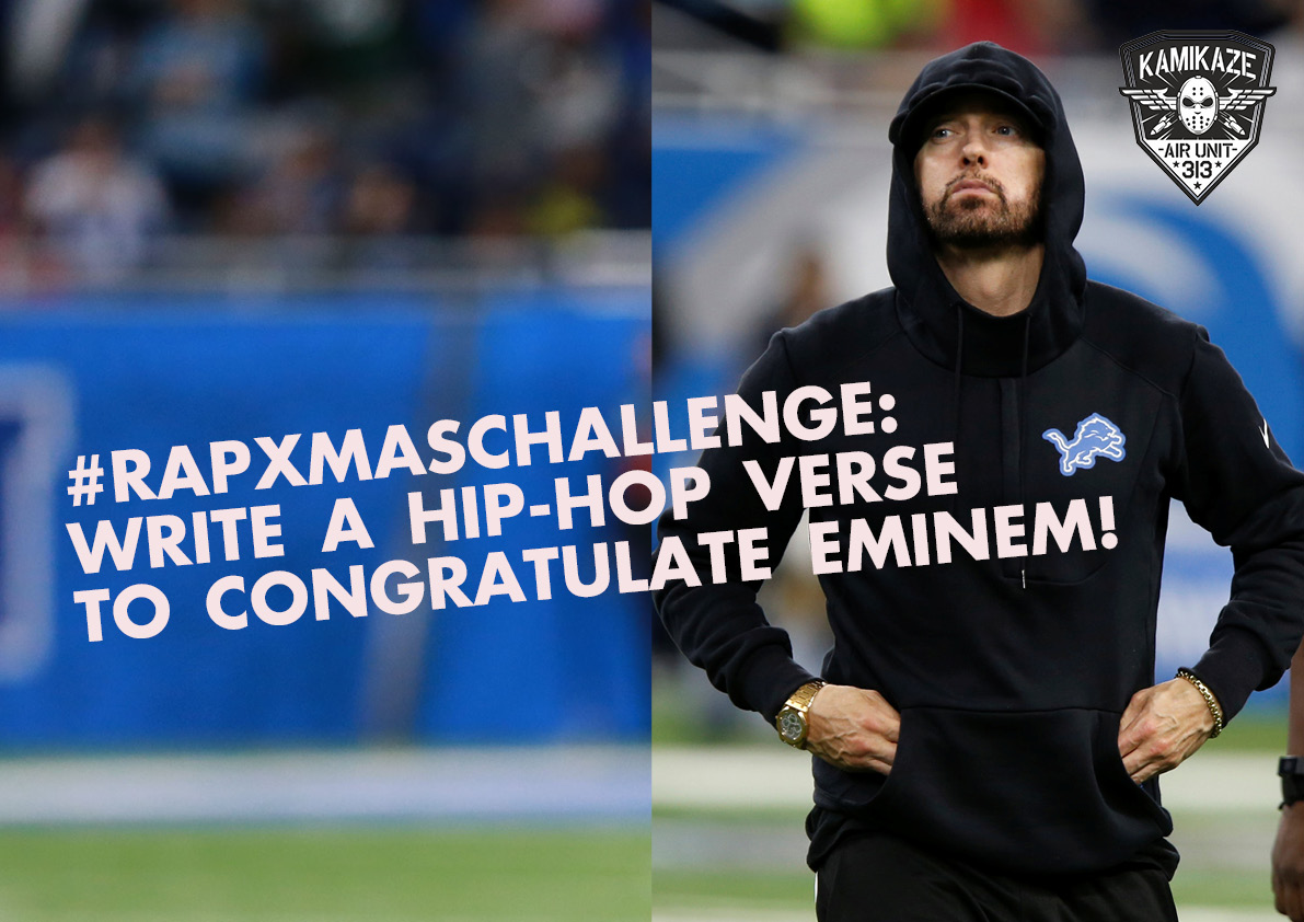 #RapXmasChallenge: Write a hip-hop verse to congratulate Eminem!