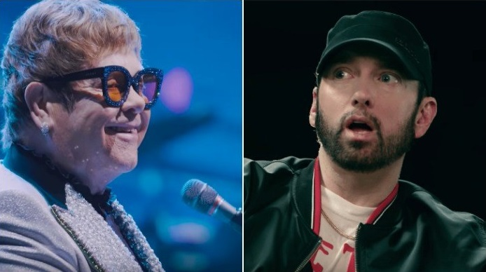 "Full Interview: Eminem & Elton John Talk Tepid ""Revival"" Response, ""Kamikaze"" & More (10.12.2018)"