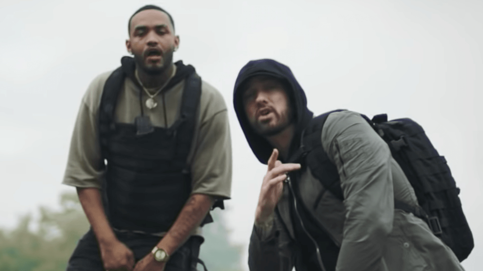 Eminem is on the 3d verse of a new collabo with Joyner Lucas