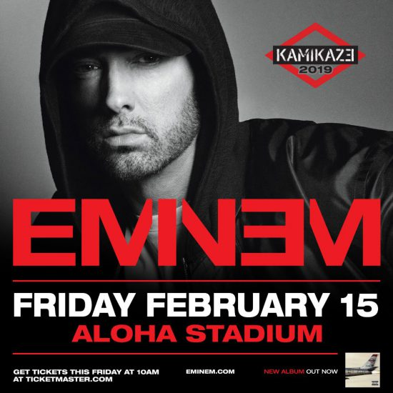 """Eminem will """"ignite the crowd"""" in Hawaii! The exclusive show in February 2019"""