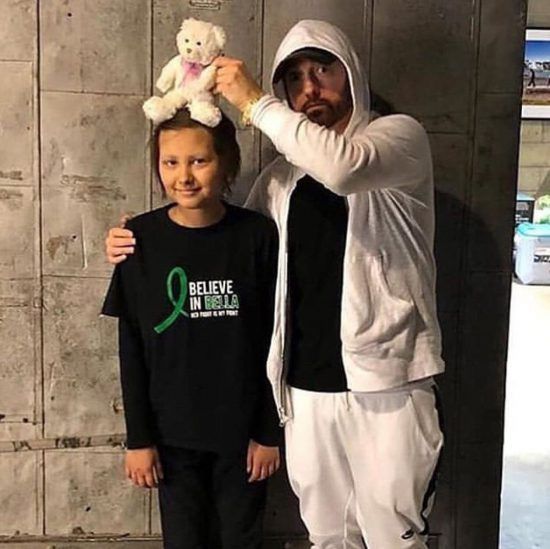 In October, Eminem and Make-A-Wish Foundation arranged a meeting with a fan named Isabella