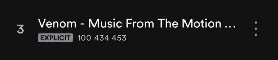 "Single ""Venom"" overcame the bar of 100 million plays on Spotify"