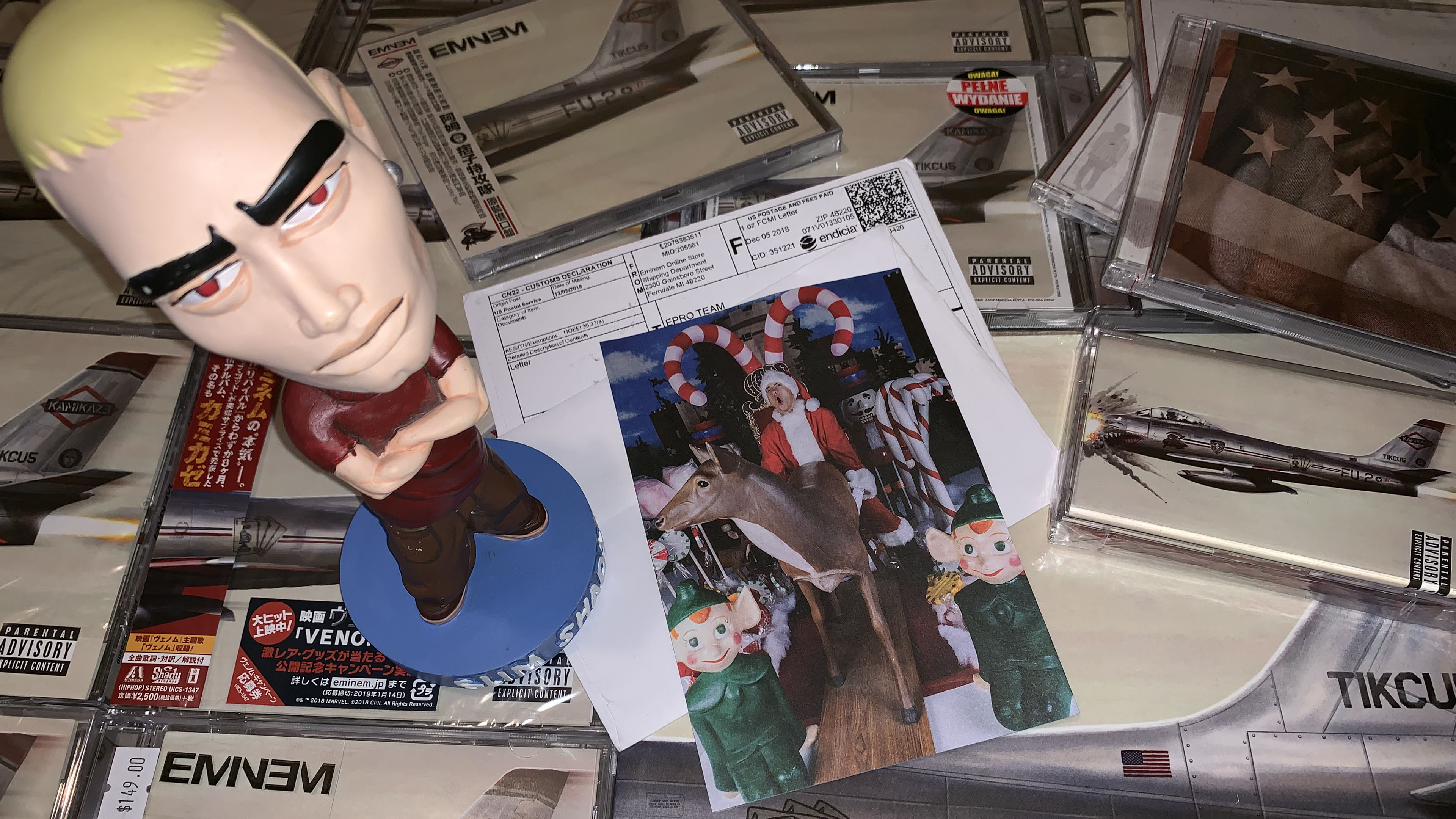 Eminem sent Christmas cards to our editorial too! Thanks, Shady. Very pleased!