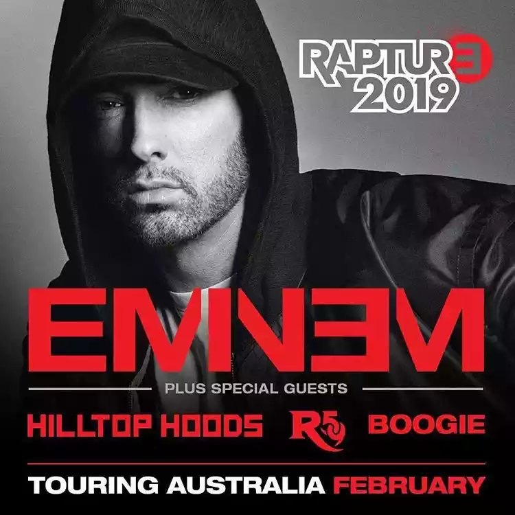 The list of opening up acts on Eminem's Australian concerts