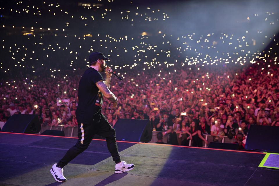 Eminem Live Perfomance In Sydney Eminem Pro The