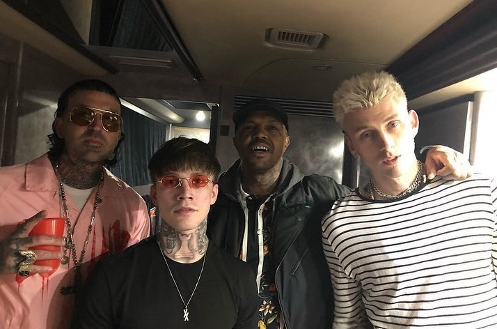 Yelawolf and MGK at the Trunk Muzik 3 album release party in Los Angeles