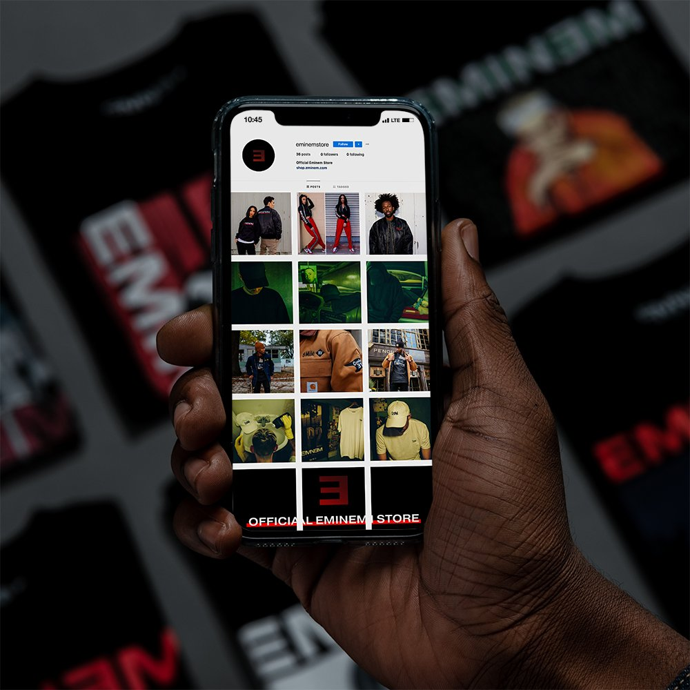 Eminem Launched the Official Instagram Page of His Merch Store