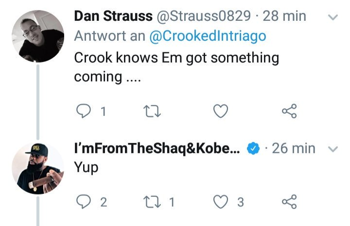 """Crooked """"Knows Eminem Got Something Coming"""""""