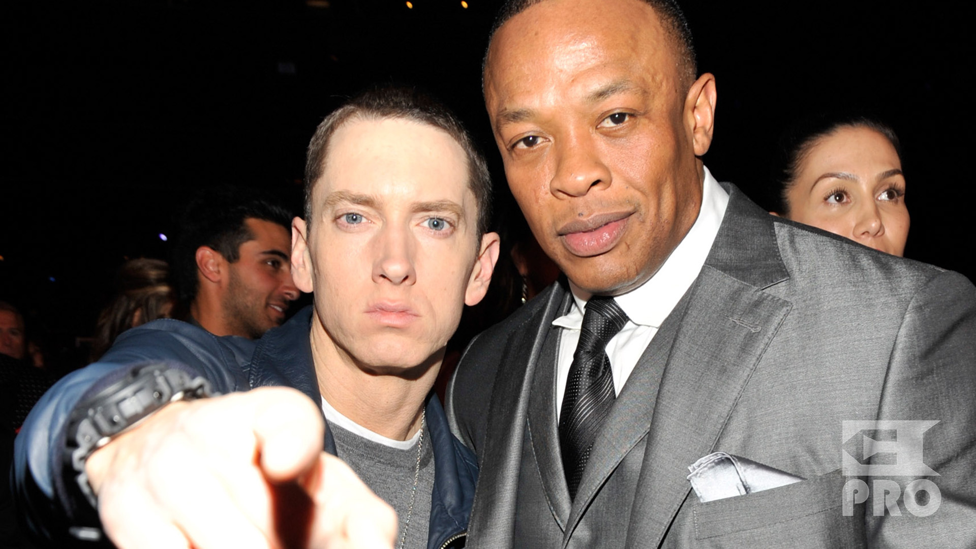 Eminem Dr. Dre The 53rd Annual GRAMMY Awards held at Staples Center on February 13, 2011 in Los Angeles, California.