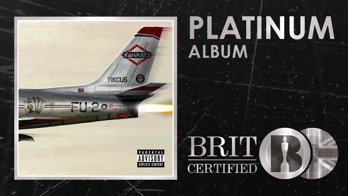 Kamikaze Is Now Platinum in the UK