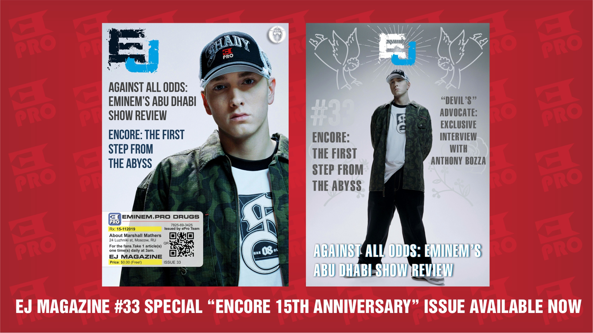 "EJ Magazine #33 Special ""Encore 15th Anniversary"" Issue Available Now"