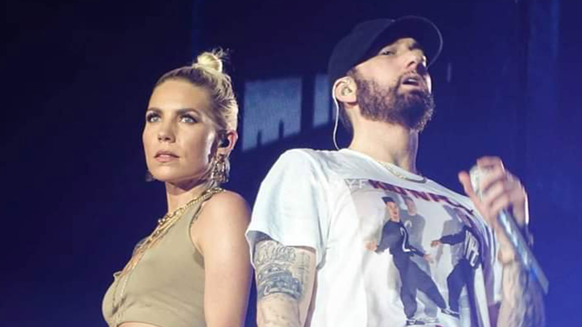 Eminem and Skylar Grey at Abu Dhabi, 25.10.2019 📸 @paulawyf