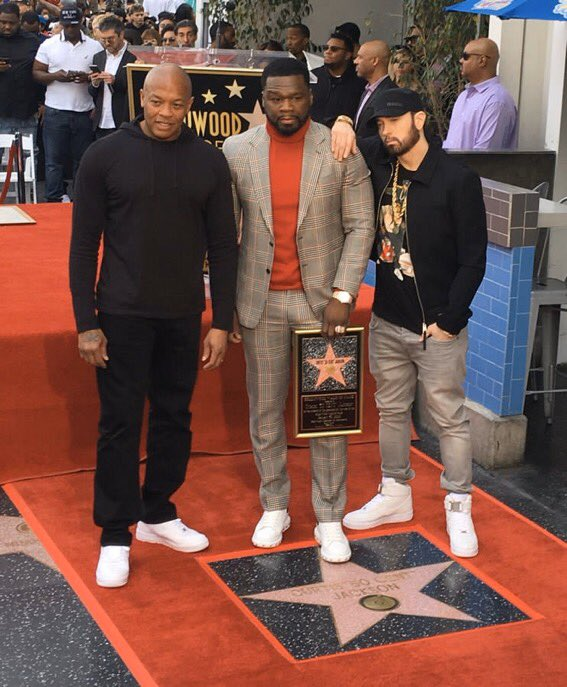 Eminem gave a speech at the opening ceremony of the 50 Cent's star on the Hollywood Walk of Fame