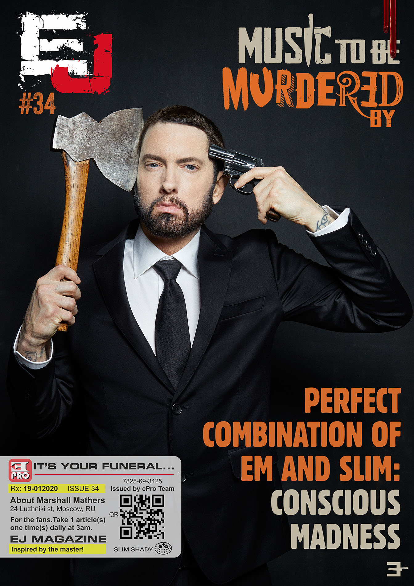 EJ Magazine #34 Available. Now. It's your funeral...