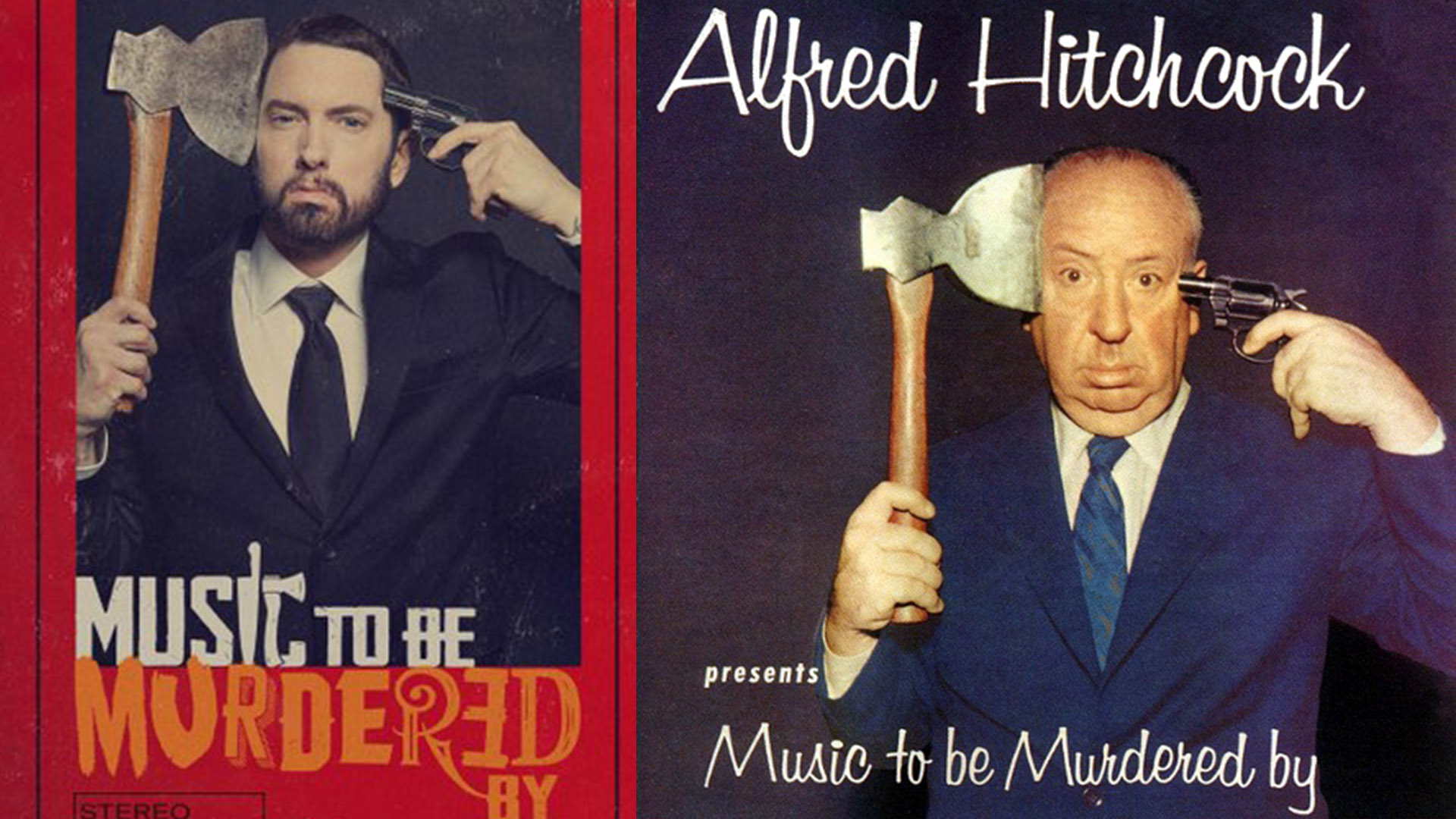 Eminem Pays Homage To Alfred Hitchcock On His Latest Album Cover