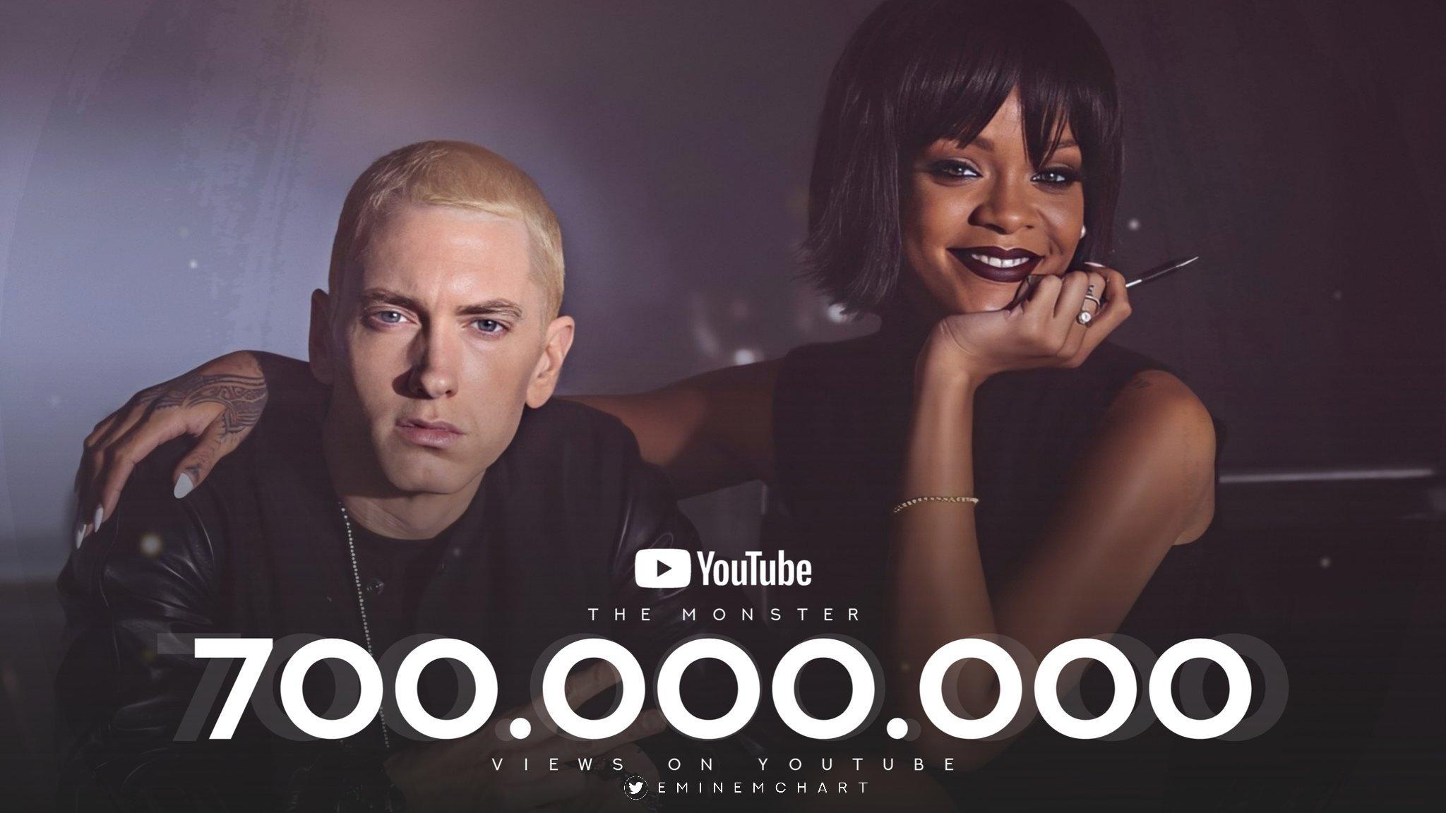 "Eminem ft. Rihanna - ""The Monster"" Video Surpassed 700 Million Views"