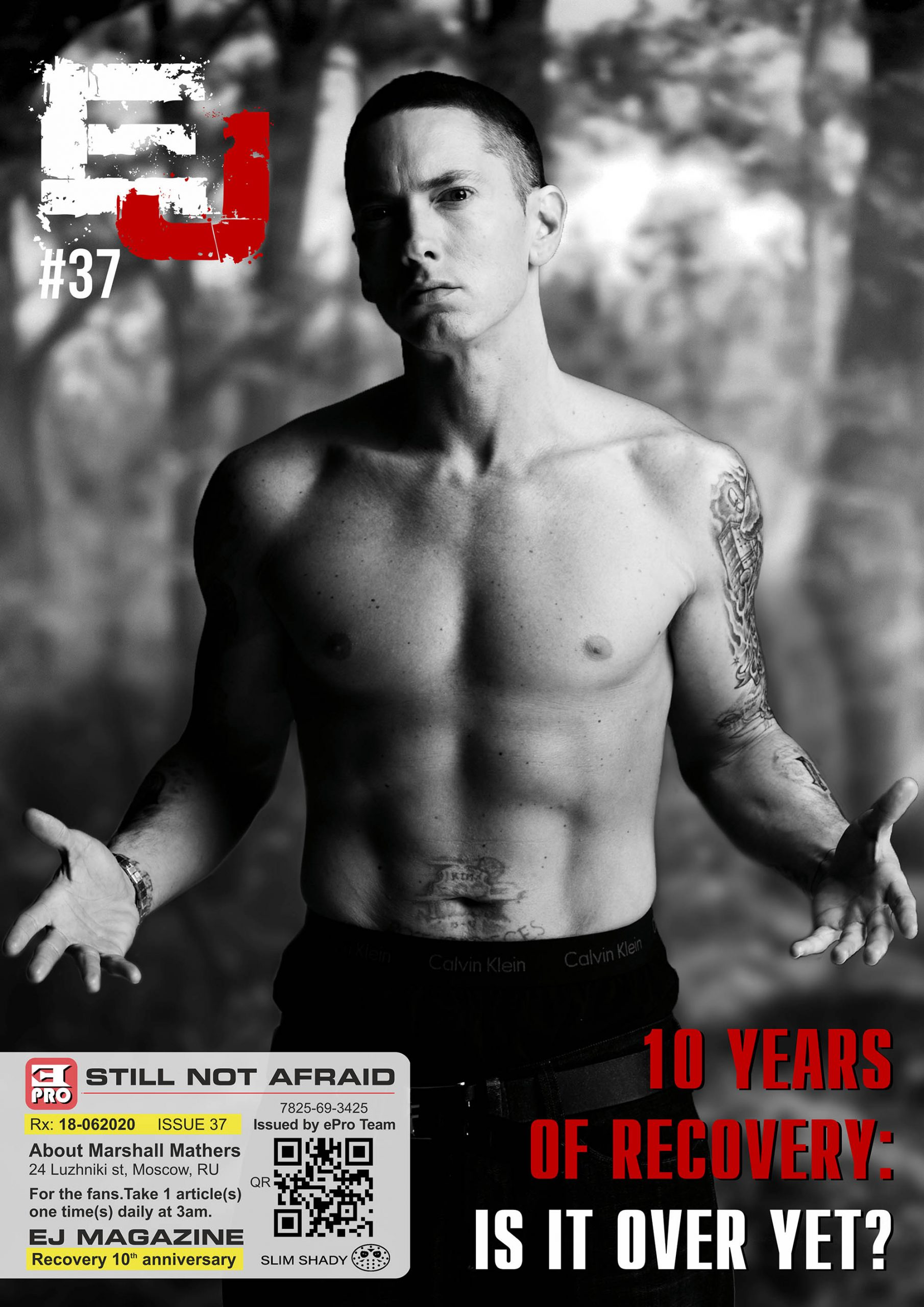"Celebrate The 10th Anniversary Of Eminem's Album ""Recovery"" With The 37th Issue Of EJ Magazine!"