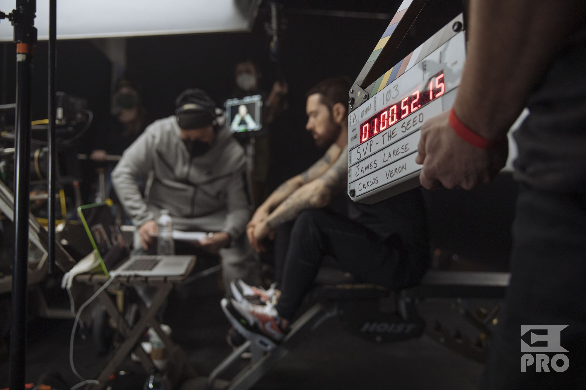 """Hi-Res Backstage Photos From Eminem's """"Higher"""" Video (Exclusive)"""