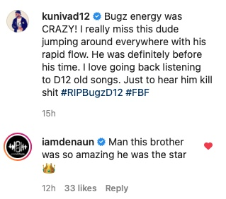 Kuniva shared a rare video of the late D12 member Bugz on the mic