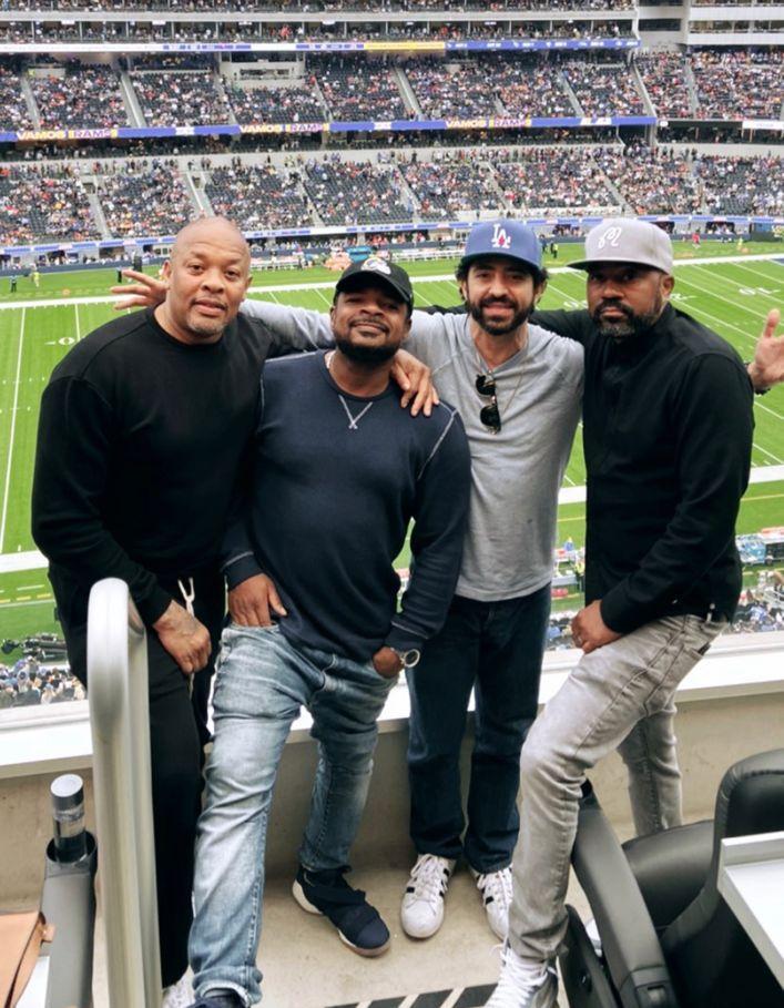 Dr. Dre Enjoys Time Off Studio Dancing At Rams Game
